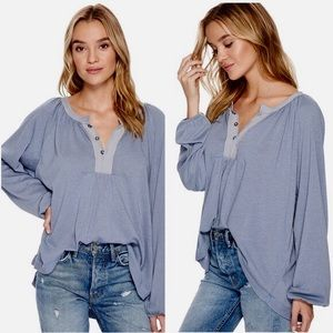 Free People Acadia Henley top